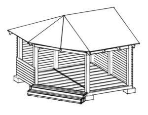 Угловая беседка на даче своими руками: как построить, плюсы и  минусы