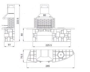 Как сделать камин-мангал из кирпича своми руками для шашлыков на даче