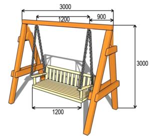 Как сделать на дачном участке качели-скамейку своими руками