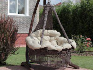 Как сделать садовые качели-макраме для дачи своими руками