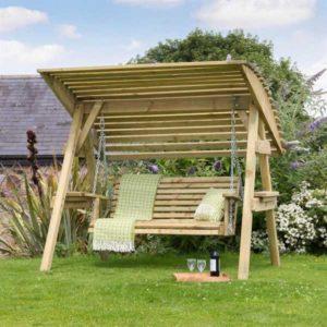 Крыша для садовых качелей своими руками: виды навесов, способы креплений