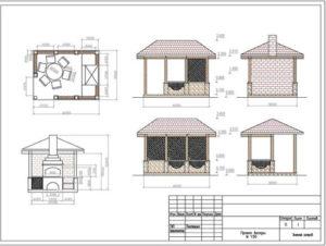 Беседка с летней кухней на даче своими руками: проект, этапы работы