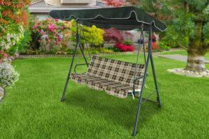 Самостоятельный ремонт садовых качелей: починка, перетяжка тента