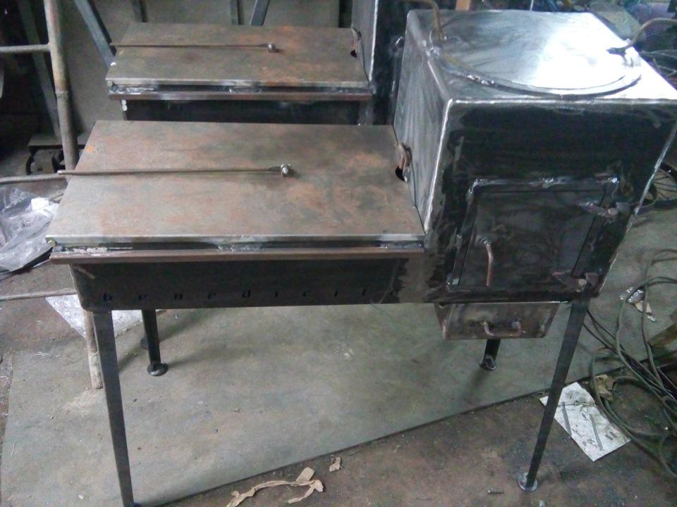 Как сделать мангал с казаном из металла самостоятельно на даче