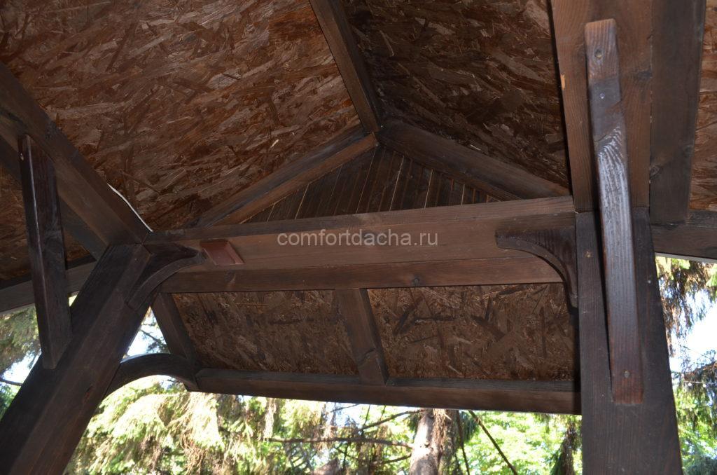 Крыша для беседки своими руками: варианты, материалы, монтаж
