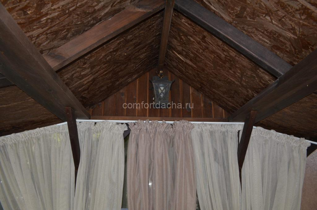 Беседка со шторами на даче: как самостоятельно сшить и повесить шторы
