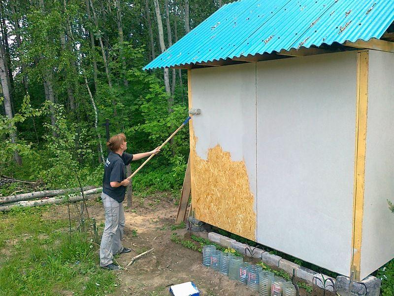 Как построить сарай из ОСБ своими руками