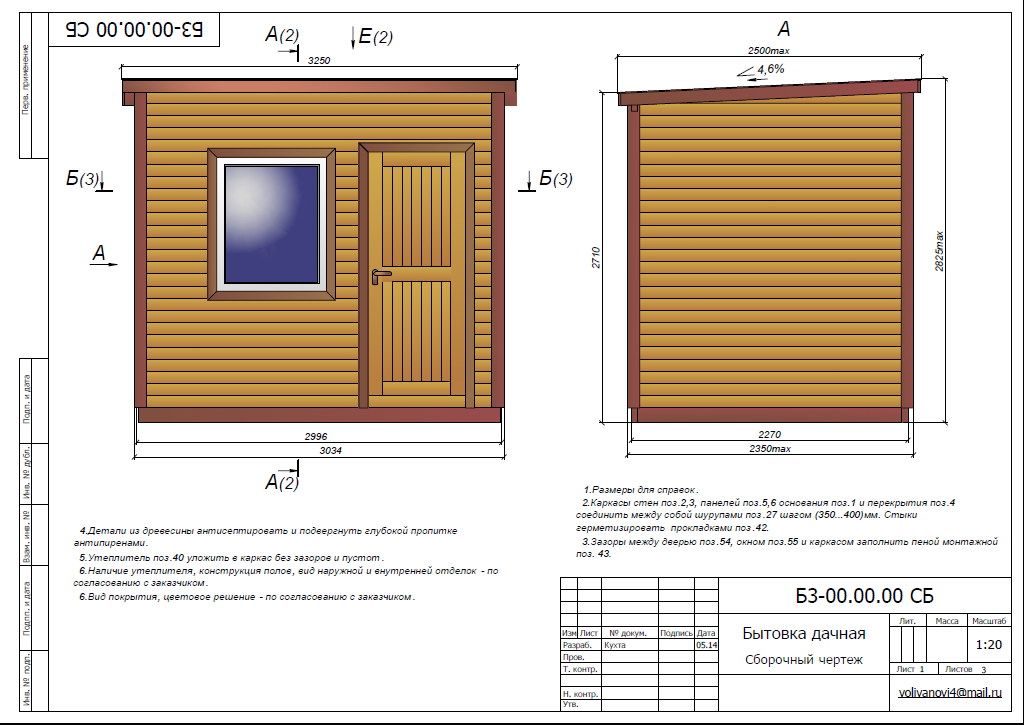 Проект хозблока на даче своими руками: чертежи и планировка