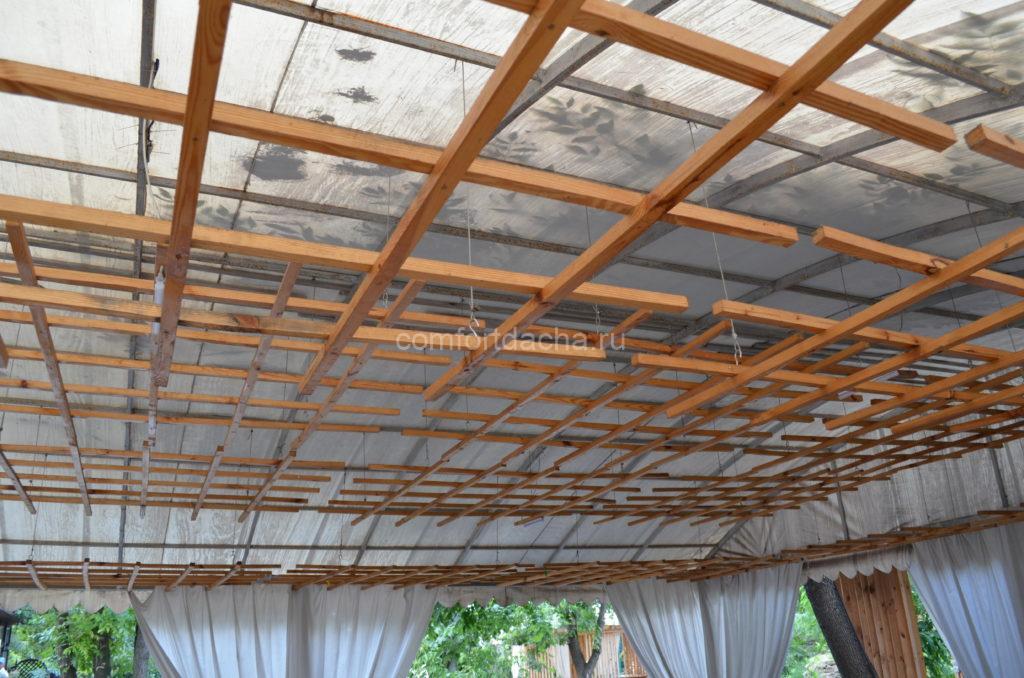 Обзор материалов для покрытия террасы на даче: веранда с прозрачной крышей