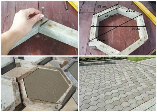 Садовая плитка своими руками: как сделать самостоятельно плитку для дачи