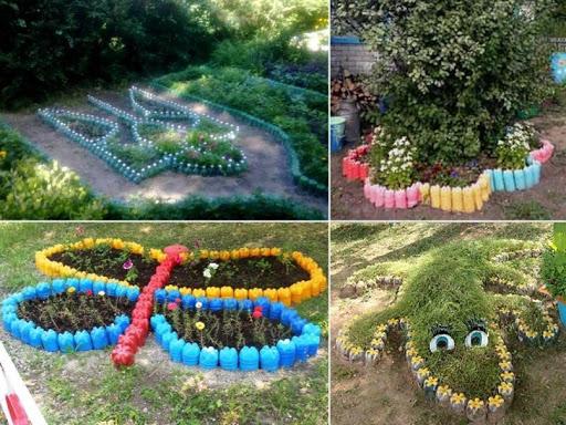 Как сделать клумбы из подручных материалов на садовом участке