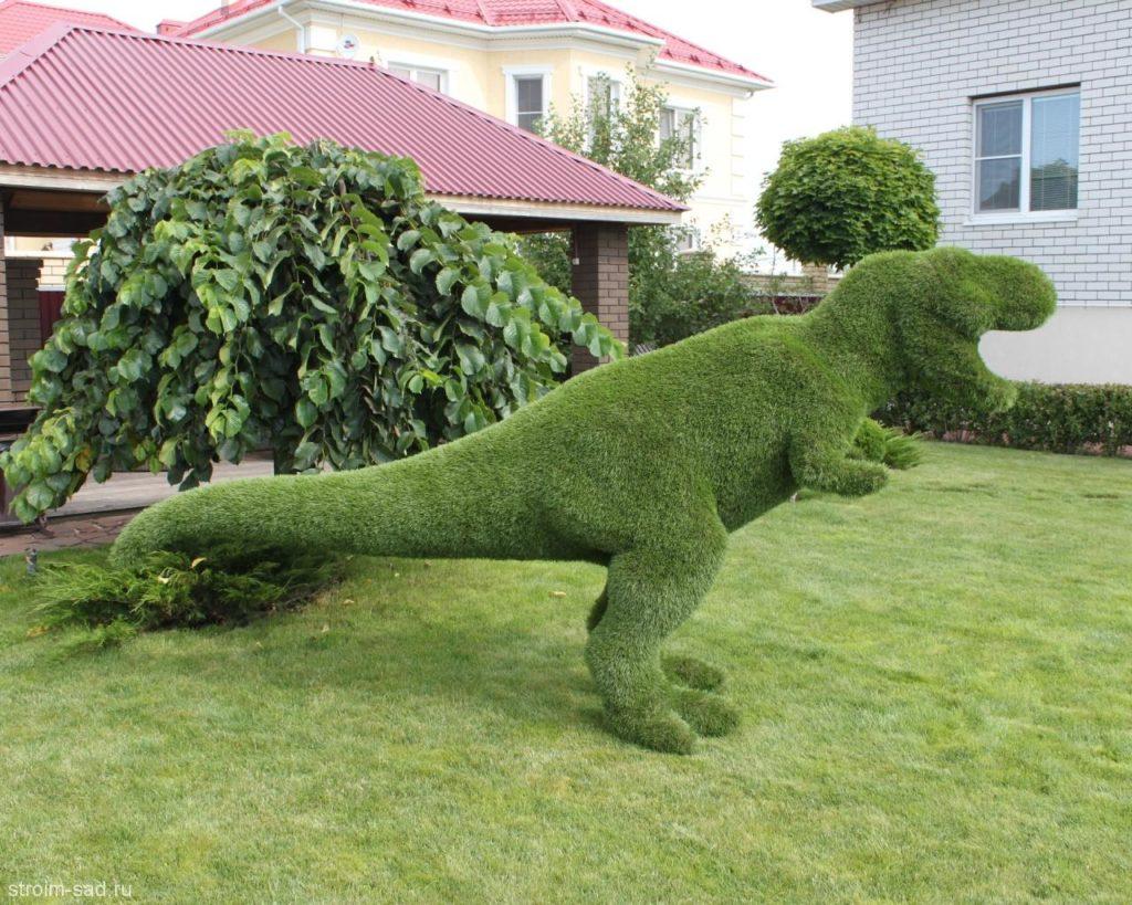 Как сделать топиарий из искусственной травы на даче — инструкция
