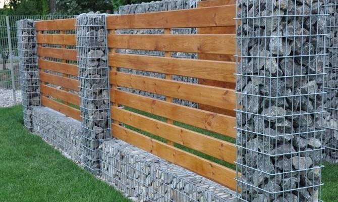 Как сделать забор из габионов на даче своими руками — руководство