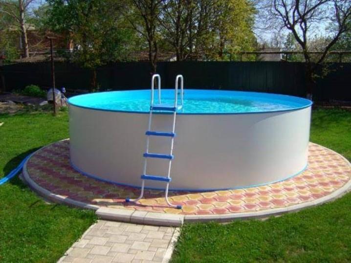 Как установить надувной бассейн на даче своими руками