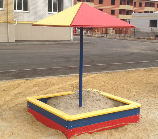 Грибок для песочницы на детскую площадку на даче своими руками