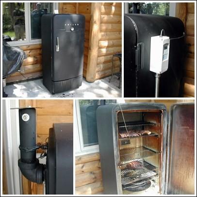 Коптильня холодного и горячего копчения своими руками из холодильника