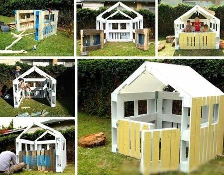 Детский домик из поддонов своими руками — этапы строительства