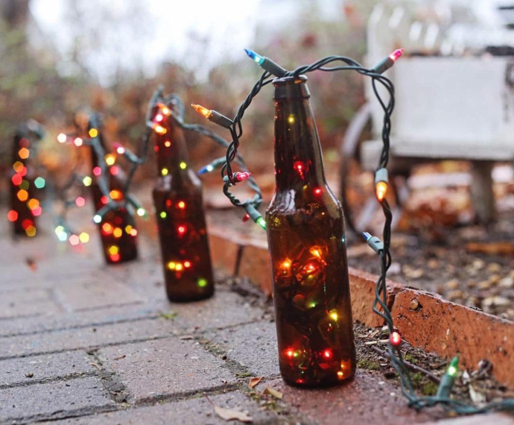Светильник из бутылки своими руками — пластиковая или стеклянная