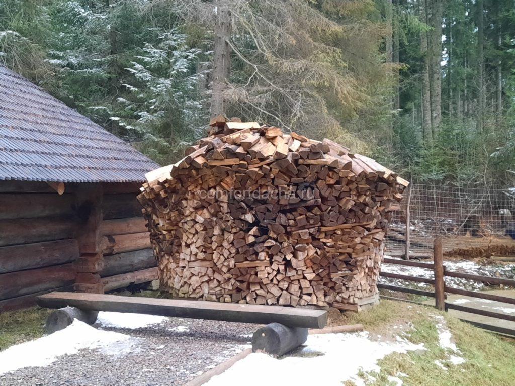 Дровник для бани своими руками — из дерева или металла
