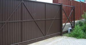 Какая должна быть ширина ворот для въезда на участок