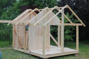 Треугольный домик для дачи своими руками — из дерева