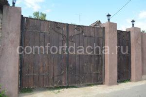 Деревянные ворота для частного дома своими руками