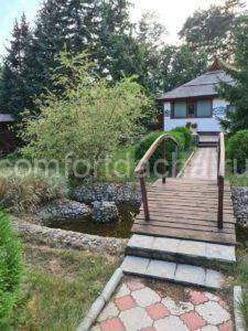 Декоративный мостик для сада — из дерева или металла