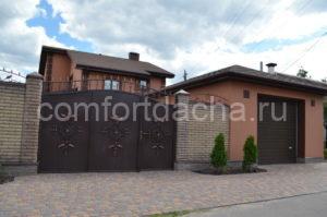 Ворота с калиткой внутри для частного дома своими руками