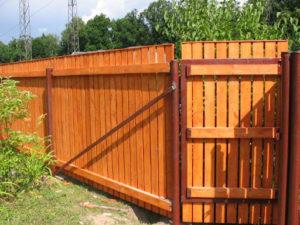 Деревянный забор для дачи своими руками