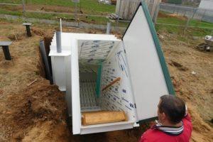 Пластиковый погреб для дачи — с боковым входом своими руками